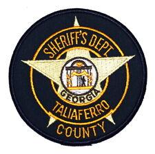 TALIAFERRO COUNTY GEORGIA GA Sheriff Police Patch STATE SEAL COLUMNS STAR ~