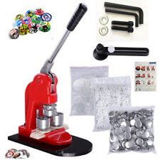 25/32/44/58mm Button Badge Maker Punch Press Machine Die Mould + 1000 Parts