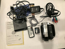 Sony Hdr-Sr10 handycam High Definition 1080 Hard Drive Camcorder w/ accessories