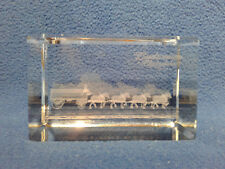 Anheuser Busch CRS9  The World Famous Budweiser Clydesdales Laser Crystal