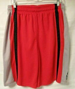 Reebok Shorts Boys Extra Large Red Gray Black Elastic & Drawstring Waist #1668