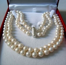 Natural  7-8MM AKOYA SALTWATER PEARL NECKLACE  17-18''