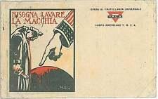 Italia Regno - FRANCHIGIA MILITARE :   BISOGNA LAVARE LA MACCHIA - M.L. 1919