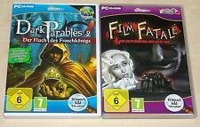 2 fourmilière pc jeux-film fatale & Dark parables 2-Adventure comme neuf