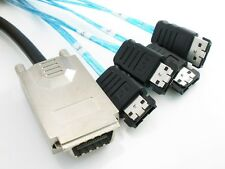 Mini SAS 34P SFF 8470 4x E SATA 7P INFINIBAND TO 4 ESATA 1M Cable