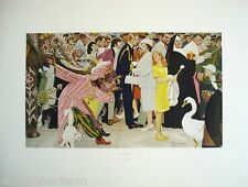 """NORMAN ROCKWELL """"SATURDAY PEOPLE""""   LIMITED COLLOTYPE   MORE AVAILABLE @ GALLART"""