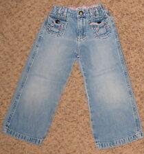 Blue Denim Oshkosh 3T Jean Pants w Flower Pockets Cs