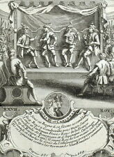 Roi Louis III et Carloman - Gravure originale Nicolas de Fer 1722