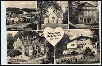 DDR Postkarte Thüringen LIEBENSTEIN ua. ev. Kirche, Klubhaus, Handwerker-Heim