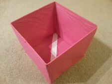 Storage Box Non Woven Zip Compact Foldable Salon Cosmetic Makeup Toys PINK Mediu