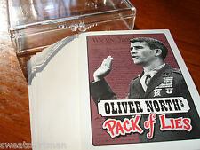 Novelty Political Playing Card Deck Oliver Ollie North Pack of Lie Ronald Reagan