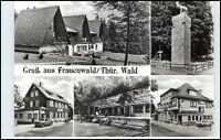 DDR Postkarte Thüringen FRAUENWALD ua. HOG Waldfrieden, Café Lenkgrund, FDGB-H.