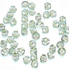SCB318f CHRYSOLITE Green Swarovski Crystal 4mm Xilion (5328) Bicone Beads 48/pkg