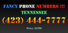 New listing Fancy Phone Numbers ! Tennessee (423) 444-7777