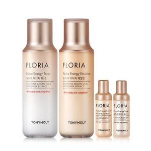 Tonymoly Floria Nutra Energy Skin care Set Toner+Emulsion Moisturizing Wrinkle