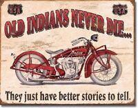 Indian Better Stories Motorcycle Garage Retro Vintage Wall Decor Metal Tin Sign