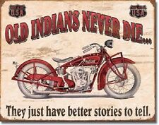 Indian Better Stories Motorcycle Retro Vintage Style Metal Tin Sign New