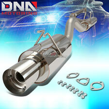 """4""""MUFFLER TIP STAINLESS STEEL EXHAUST CATBACK SYSTEM FOR 06-11 CIVIC SI FG2 K20"""