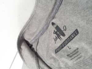 johnnie-O Men's Flex Prep-Formance 1/4 Zip Pullover Size Large Gray Top JMKO1420