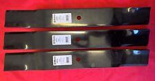 3 x Hustler 72 Inch Cut Lawn Mower Blades for Super Z models - 795260, 783977