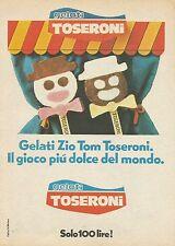 X7838 Gelati Zio Tom Toseroni - Pubblicità 1976 - Vintage Advertising