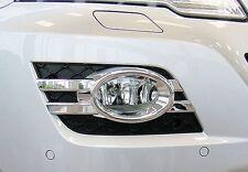Mercedes W164 ML Oval Chrome fog light frames FROM 08/2008 TO 06/2011
