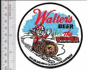 Snowmobile & Walter's Beer ''The Winner'' Au Claire, Wisconsin Promo Patch