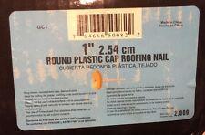 "PrimeSource-Contnr B 2m 1"" Plastic Cap Nail GC1"