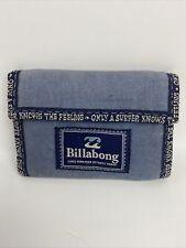 Billabong Blue Vintage 90's Wallet. Good Condition