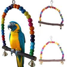 Balançoires Jouet Bois perroquet ou perruche coloré 15 cm hauteur