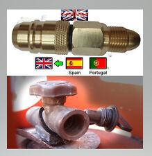 Euro Portugal Gaz GPL Filling Filler to UK CALOR flogas Propane Bottle Adaptateur