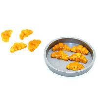 1:12 Dollhouse Miniature Mini Metal Round Tray Kitchen Accessories Toys HU