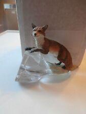 franklin mint  alaska wildlife conservation trust  alaska  artic fox on crystal
