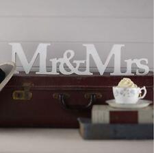 Scritta Legno MR MRS matrimonio sposi confettata addobbo wedding sposa accessori