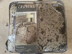 Croscill Sorina Mocha Queen Comforter Set- 4 Piece
