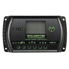 30A 12V/24V PWM Regolatore di Carica Solare Pannello Regulator Controllore HK