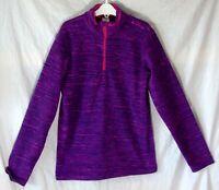 Girls Decathlon Purple Pink Fleck Warm Fleece Funnel Sweater Jumper Age 12 Years