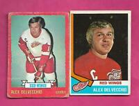 1973-74  1974-75 OPC WINGS ALEX DELVECCHIO  GOOD CARD  (INV# C7287)