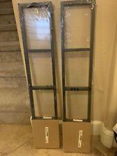 2 IKEA Lerberg 10035 Media Wall Mount CD DVD Shelf Rack Storage Dark Gray New