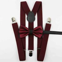 New in box Convertible Elastic Suspender/_Bow tie /& Hankie Silver glitter formal