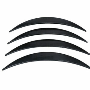 4pcs Universal Car Fender Flares Wheel Lip Body Kit Eyebrow Carbon Fiber Look