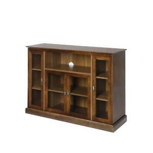 Convenience Concepts Summit Highboy TV Stand, Dark Walnut - 8066036DWN