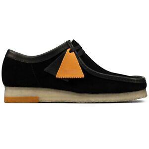 Clarks Originals - New Men's Clarks Originals Wallabee Shoes - Black Combi Suede