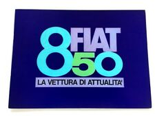1972 Fiat 850 14-page Original Italian Car Sales Brochure Catalog