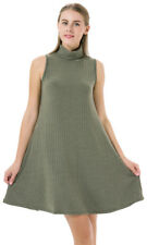 Women Casual Loose Fit Long Dresses Swing T-shirt Sleeveless Comfy Home Party