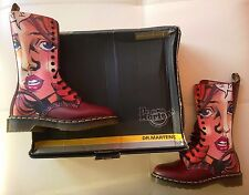 DOC DR MARTENS MANGA ANIME GIRL FACE BOOTS RARE NEW VINTAGE MADE IN ENGLAND 5UK