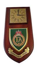 Territorial Army TA Regiment Military Wall Plaque & Clock