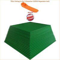 "1 Genuine LEGO Separator tool. PLUS BONUS 20 Green 10""x10"" compatible baseplates"