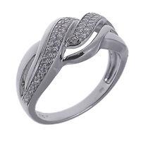 Damen Cocktail Ring echt Silber 925 Sterling rhodiniet mit Zirkonia pavé