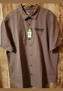 JERR-DAN Embroidered Men's UNDER ARMOUR Heat Gear Loose SS Button Front Shirt